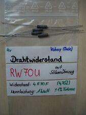4x axialer Drahtwiderstand, silikonüberzogen; RW70U; RS01A; 4R70F (4,7 Ohm), 1W
