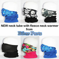 Multi use Biker Balaclava Cycling Neck Tube Scarf Snood Fleece Warmer Bandana