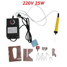 220V 25W Plastic Adjustable Pyrography Machine Gourd Wood Crafts Tool Heating