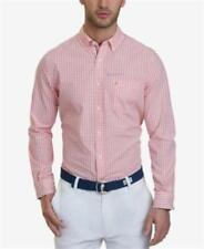 Nautica Long Sleeve Gingham Woven Shirt Pale Coral Mens Size XL New