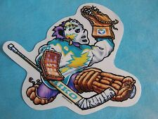 Grateful Dead Dancing Bear Hockey Goalie Player Window Sticker 4 Inches Tall