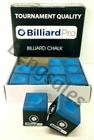 12 PIECES / BOX of BLUE Tournament QUALITY Snooker or Pool CUE TIPS TABLE CHALKS