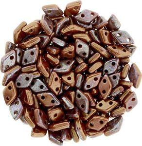 CzechMate 2 hole Diamond Tile Glass Seed Spacer Beads approx 130 beads U-Pick