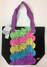Oneill Women's Black Canvas Beach Tote Bag.