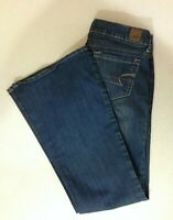 American Eagle Real Flare Women's Size 2 Short Low Rise Denim Blue Jeans