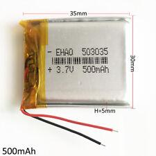 3.7V 500mAh Lipo Polymer li ion Battery 503035 for cell phone MP3 DVD GPS PAD