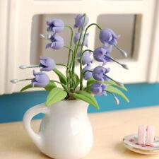 1/12 Puppenhaus Miniatur Feengarten Lila Convallaria Blumentopf Pflanze