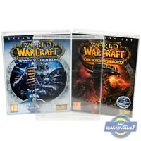 5 x PC Game BOX PROTECTOR for Blizzard World of Warcraft 0.5mm PET DISPLAY CASE