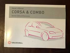 Vauxhall Corsa and Combo Handbook Dated 2003