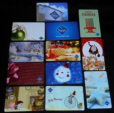 12 Collectible Gift Card SAMS CLUB Holiday Wholesale Store Lot No Value <2010