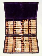 Antique Cased Travel Apothecary Kit Victorian Medical Druggist Pharmacy Bottles
