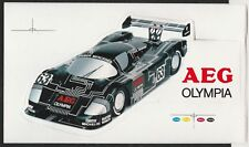 AEG Olympia Sauber Mercedes C9 Le Mans 1988 Original período PEGATINA AUFKLEBER