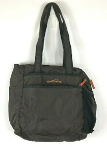 EDDIE BAUER Messenger Bag Dark Brown Orange Nylon