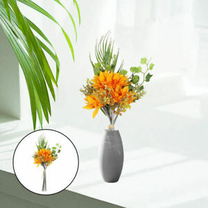 Artificial Silk Sunflower Bouquets Long Stem Real Touch Lifelike for Wedding