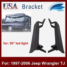 "1997-2006 Jeep Wrangler TJ LJ 50"" LED Light Bar Windshield Mounting Brackets HOT"