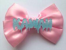 Pastel Pink Dripping Kawaii Hair Bow Melting Blue Fairy Kei Harajuku