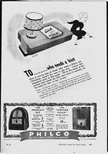 PHILCO RADIO SETS - Vintage 1930s Original ADVERTISEMENT. Free UK Post