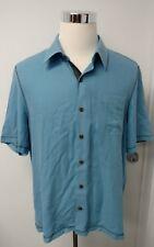 Nat Nast Men's Blue Camp Shirt Size L Large