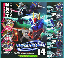 Bandai SD Gundam Next 14 Gashapon (Set of 6) OO Raiser Reborns Hazel TR-1 RX-124