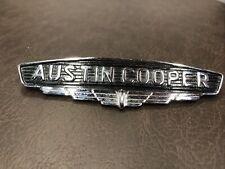 Mini Mk1 Austin Cooper Chrome Hood Wing Metal Badge B3