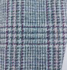 Nino Cerruti Men Gray Wool Purple & Blue Window Pane Check Sport Coat Jacket 38R