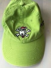 Youth adjustable baseball cap with Red Hook, St. Thomas embroidered fish green