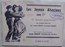 partition LES JOYEUX ALSACIENS série 11 - danses populaires - contrebasse