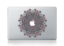 Macbook 13 inch decal sticker blue and pink flower kaleidoscope for Apple Laptop