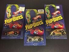 Hot Wheels Flip Outs 2283 Vaultin Van 2281 Flipper Snapper 2287 Fliproarin Cars