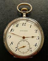 Ulysse Nardin A.Türler Zürich Silber 900 Antike seltene Sammler Taschenuhr 1900