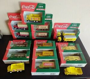 LOT OF 16 Hartoy Coca-Cola truck models 1:64 scale