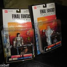 "2 LOT 2000 FINAL FANTASY AKI ROSS 6"" ACTION FIGURE BAN DAI & DR. SID"