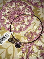 Alex and Ani JUNE Birthstone Bangle LIGHT AMETHYST Gold Charm NWOT Bracelet