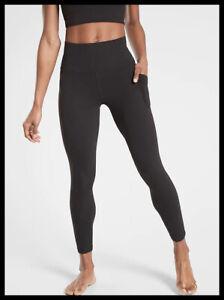 Athleta NWT Women's Salutation Stash Pocket II Tight Size Small Color Black