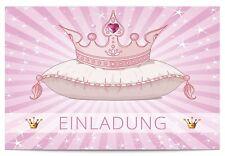 16 x Einladungskarten Kindergeburtstag für Mädchen Rosa Geburtstagseinladungen