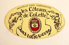 Autocollant LES COTEAUX DE LULETTE - Sticker Jaune - Année 70 /80 Vintage