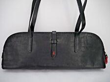 NEW HENRY BEGUELIN signature embossed black leather handbag