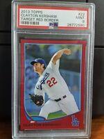 2013 Topps Target Red Clayton Kershaw Baseball Card #22 PSA 9 Mint POP 1