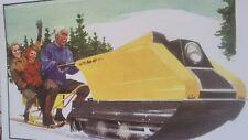 1965 Vintage HUS SKI Snowmobile Brochure Tractor