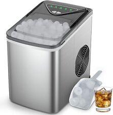 Runacc Countertop Ice Maker Machine - Mini Portable Ice Maker Makes 36lbs Ice in