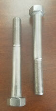 M12 x 1.25 x 100mm 304 Stainless Steel Metric Hex bolts/screws 2pc