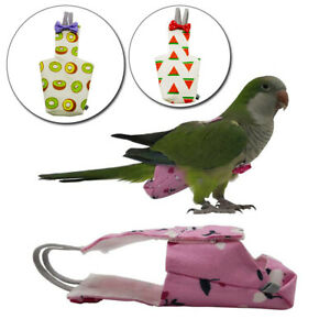 Cartoon Birds Feces Pocket Parrot Diaper For Cockatiel Pigeons Pet Supplies