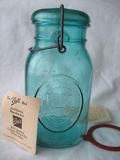 Vtg Ball Ideal Blue Aqua Mason Jar Bicentennial Celebration 1776-1976 Quart