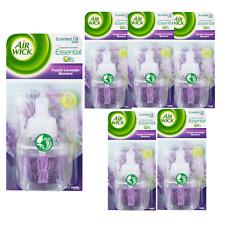 6x Airwick Air Wick Electrical Plug In Air Freshener Refill Lavender 17ml