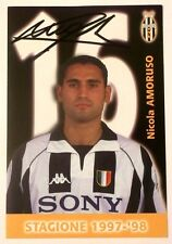 Cartoncino Juventus - Nicola Amoruso Autografo Originale