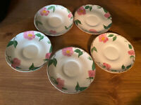 "VTG FRANCISCAN ""Desert Rose"" Lot of 5 - 5 1/2"" Plates Made in England FREE SHIP!"