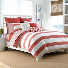 NAUTICA LAWNDALE STRIPE FULL QUEEN  DUVET COVER   STANDARD  SHAMS  3PC