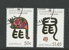 2008 Chinese New Year (Year of the Rat) set of 2 CTO Full Gum (118)