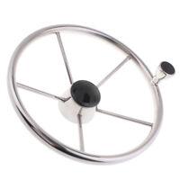 """Boat Stainless Steel Steering Wheel 5 Spoke 13-1/2"""" for 3/4"""" Tapered Shaft"""