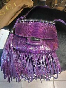 Gucci Python Purple Crossbody Bag